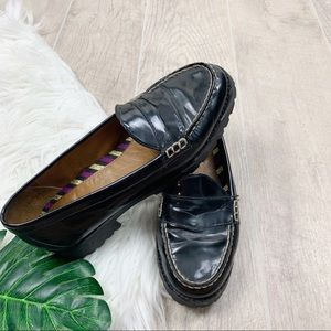 Sperry Shoes - Sperry Black Leather Pull On Women Loafers Flats